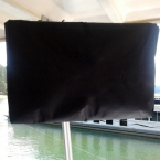 Custom boat TV covers, marine canvas