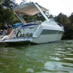 Custom metal finish boat name Lake Allatoona & Lake Lanier