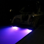 Underwater boat lighting Lake Lanier