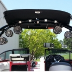 Marine Audio, Wakeboard Tower speakers, Lake Lanier
