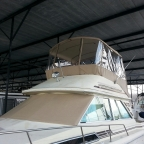 Custom Marine Canvas Top for Flybridge boat on Lake Lanier