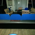 Custom marine boat canvas fence on houseboat - Lake Allatoona