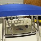 Custom Canvas Bimini Top for Fishing Boat - Lake Allatoona