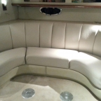 Custom Boat Upholstery on Lake Lanier for Cabin Cruiser